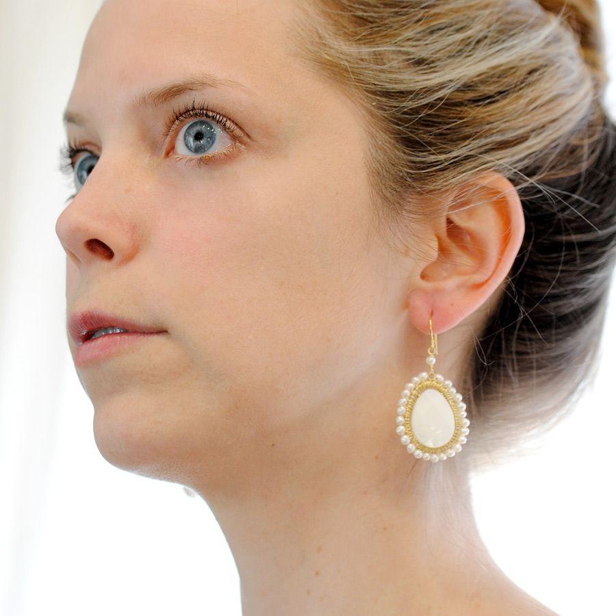 Blushing Bride Earrings in Gold