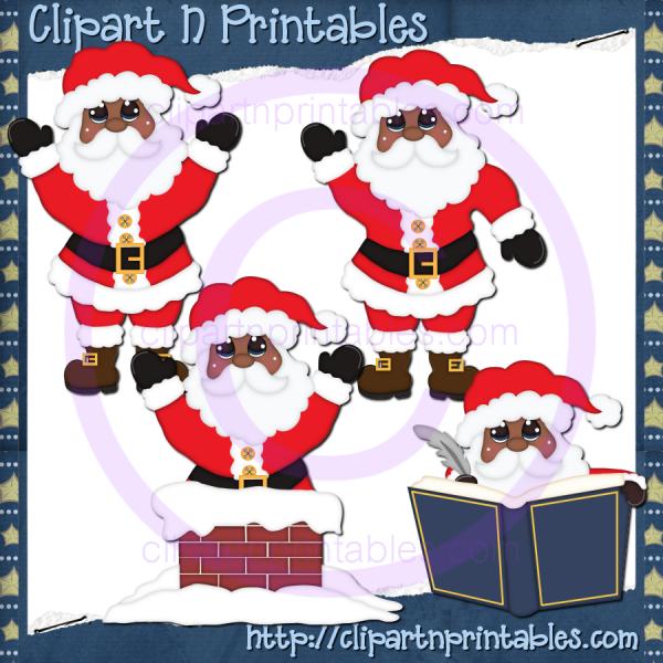 Santa Claus AA 14- #Clipart #ResellableClipart #ResellerClipart #Christmas #Santa #SantaClaus #Chimney