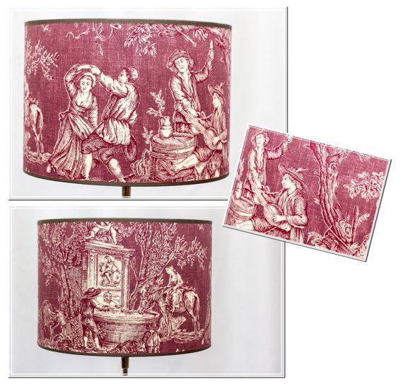 Lampshade-Landlust-high-quality Pierre Frey fabric
