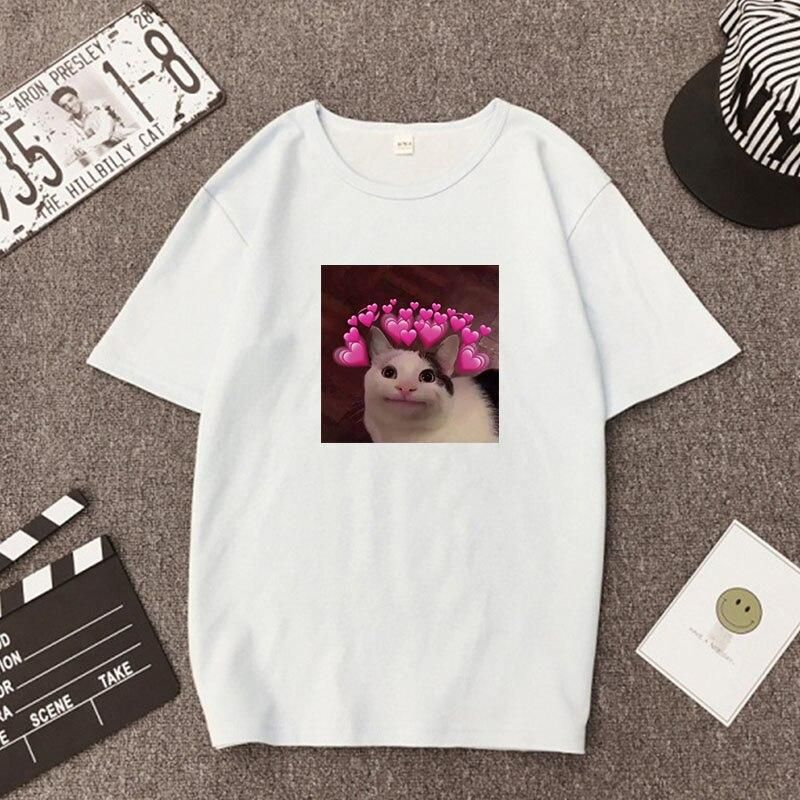 Women Print Shirt Tops clothes vintage T-Shirts O Neck Loose Tshirt vegan punk dropshipping clothing cool punk Short Sleeve Tee - White03 / M