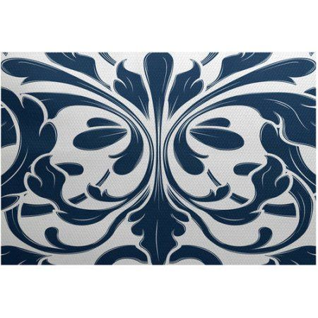 Simply Daisy, British Colonial, Geometric Print Indoor/Outdoor Rug - Walmart.com