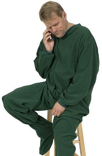 Big Feet Pajamas Adult Hunter Green Fleece One Piece Footy Pajama  48 -  SHOP https  612aa4b9d