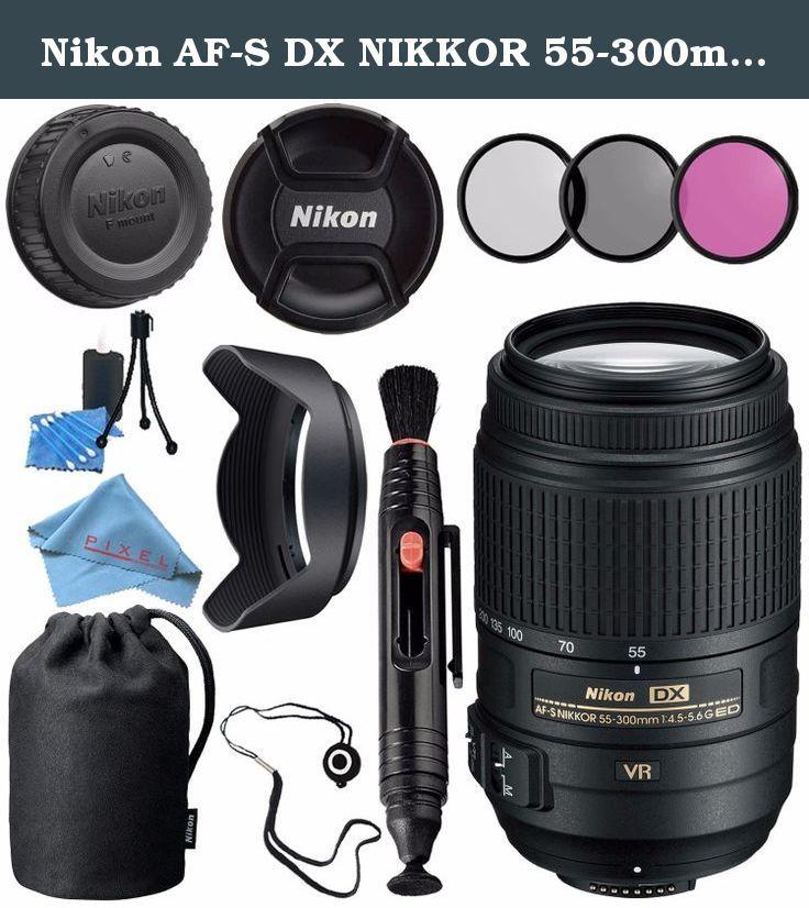 Nikon AF-S DX NIKKOR 55-300mm f/4.5-5.6G ED VR Lens 2197 + 58mm UV Filter + 58mm Tulip Lens Hood + Lens Pen Cleaner + Fibercloth + Lens Capkeeper + Lens Cleaning Kit Bundle. Our Bundle Contains 1- Nikon AF-S DX NIKKOR 55-300mm f/4.5-5.6G ED VR Lens 1- 58mm UV Filter 1- 58mm Tulip Lens Hood 1- Lens Pen Cleaner 1- MicroFiber Cleaning Cloth 1- Lens Capkeeper 1- Microfiber Cleaning Cloth 1- Lens Tissue Paper 1- Blower Brush 1- Lens Cleaning Solution .