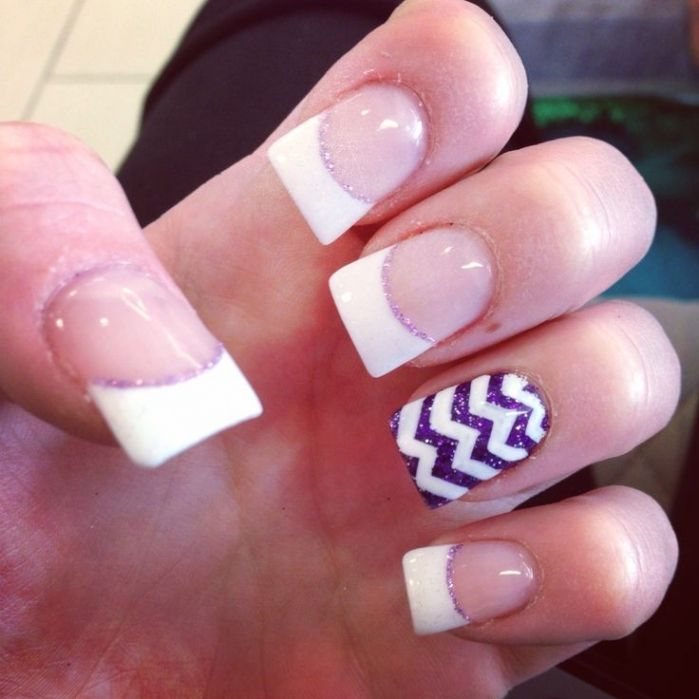 Lovely Acrylic Nail Designs French Tip 2017 2017 - Nails Design Ideas - Lovely Acrylic Nail Designs French Tip 2017 - Https://www