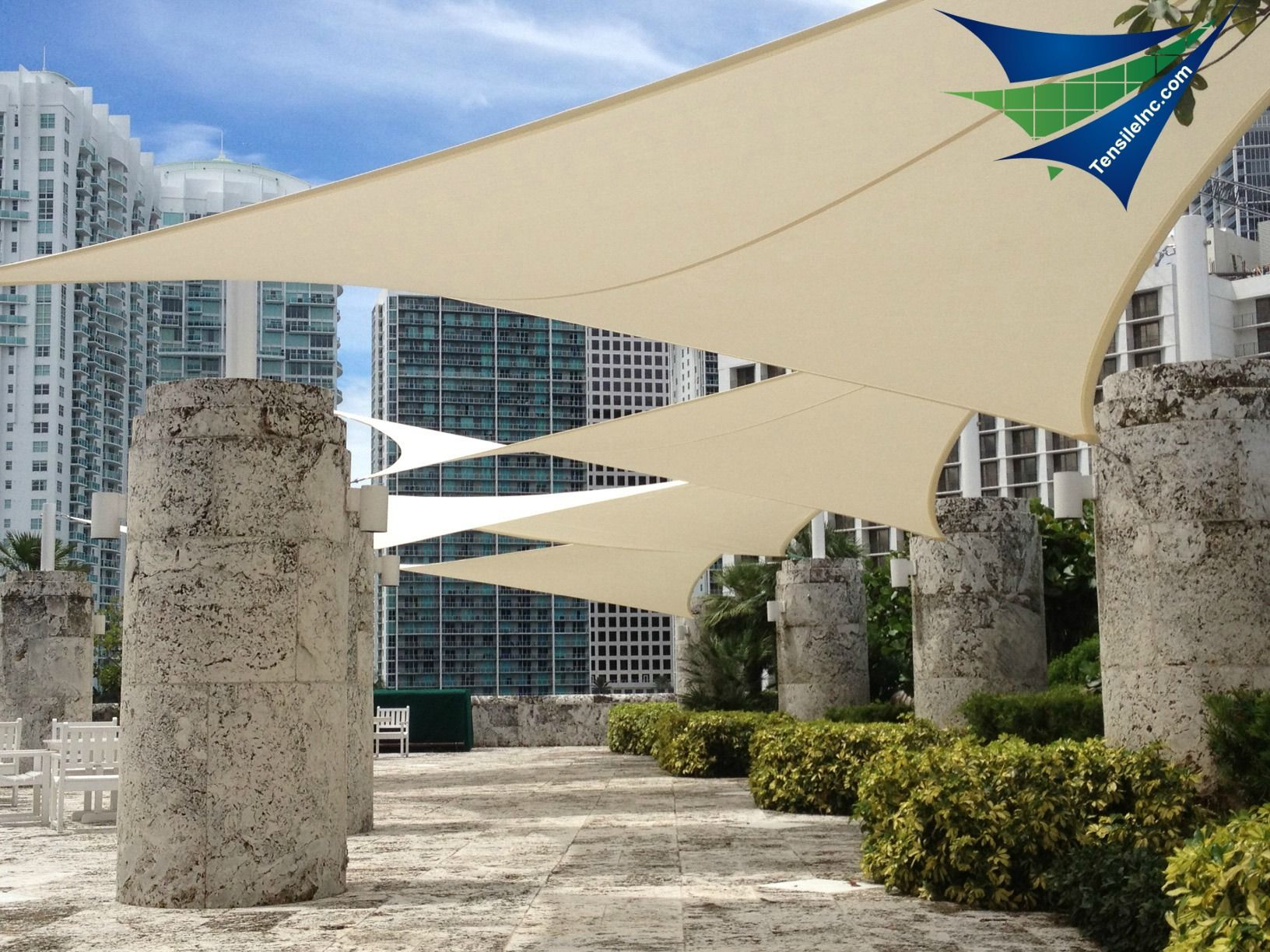 Retractable tensile canopy and shade systems for commercial resort or residential applications. TensileInc. & Retractable tensile canopy and shade systems for commercial ...