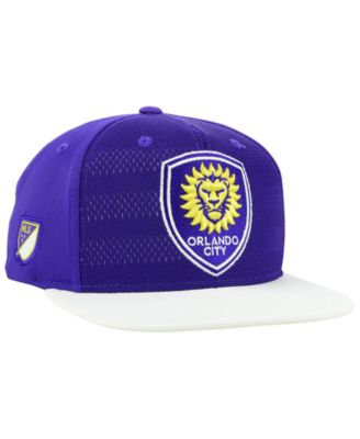 new styles af506 a00a8 adidas Orlando City Sc Authentic Snapback Cap - Purple White Adjustable