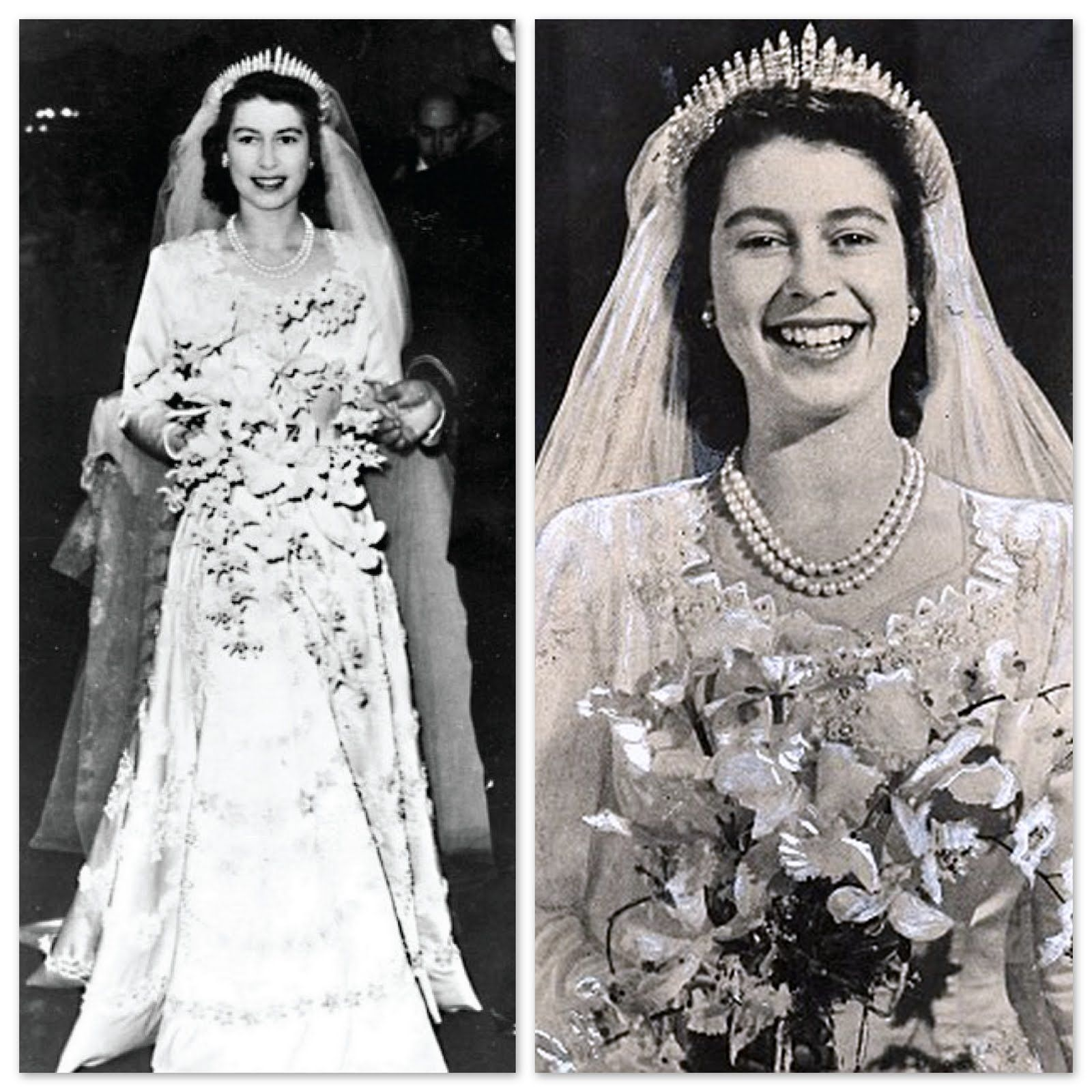 Queen Elizabeth Wedding Gown: Queen Elizabeth Was A Blushing Bride! That Smile Is So