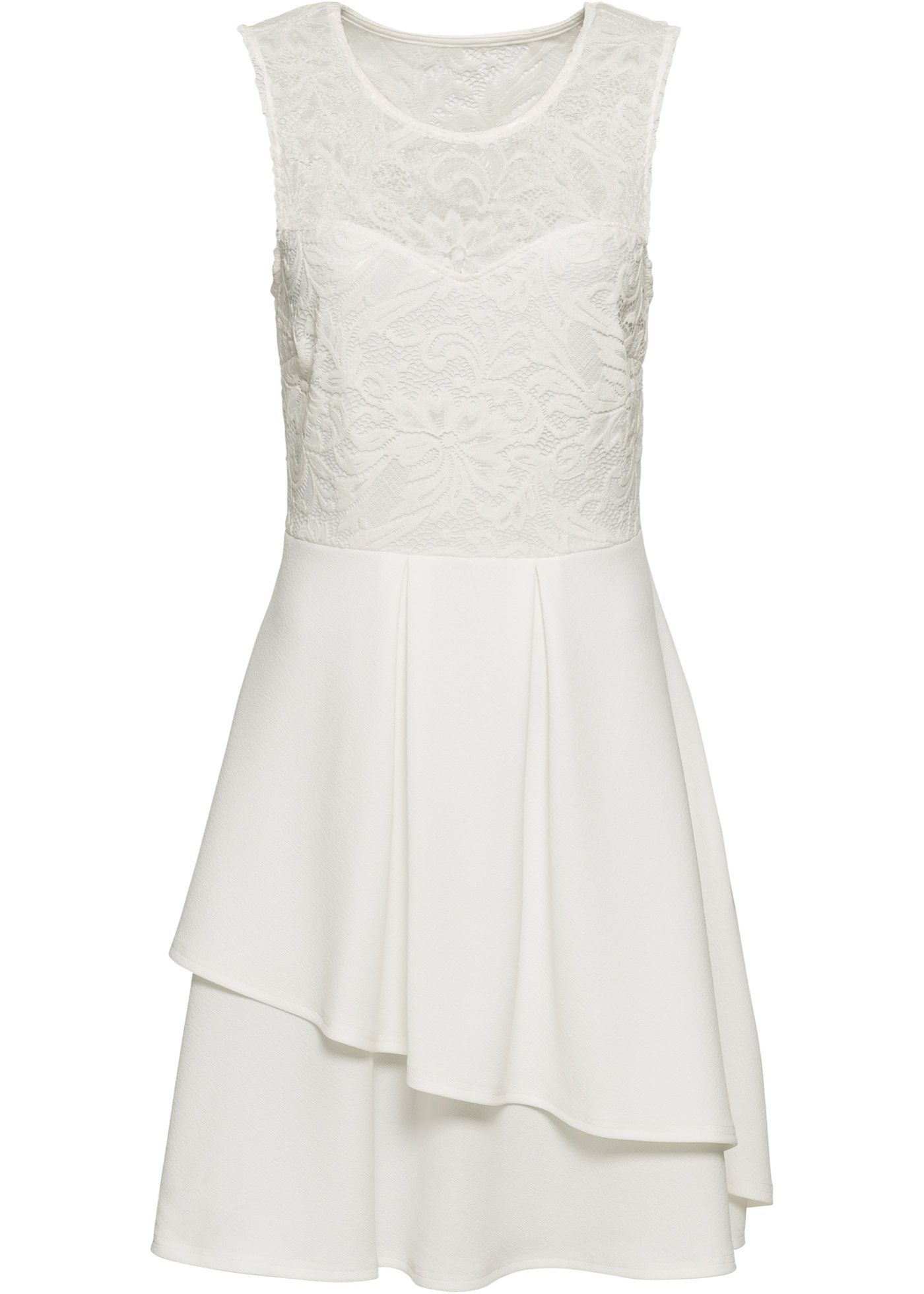 Shirtkleid mit Spitze  Kleid spitze, Spitzenkleider und Weißes kleid