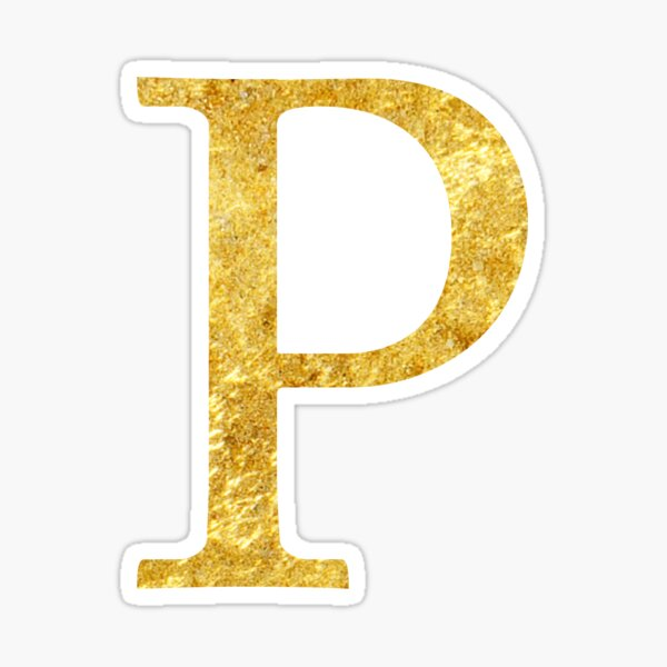 Letter P Gold Stickers Gold Stickers Lettering Black And Gold Marble