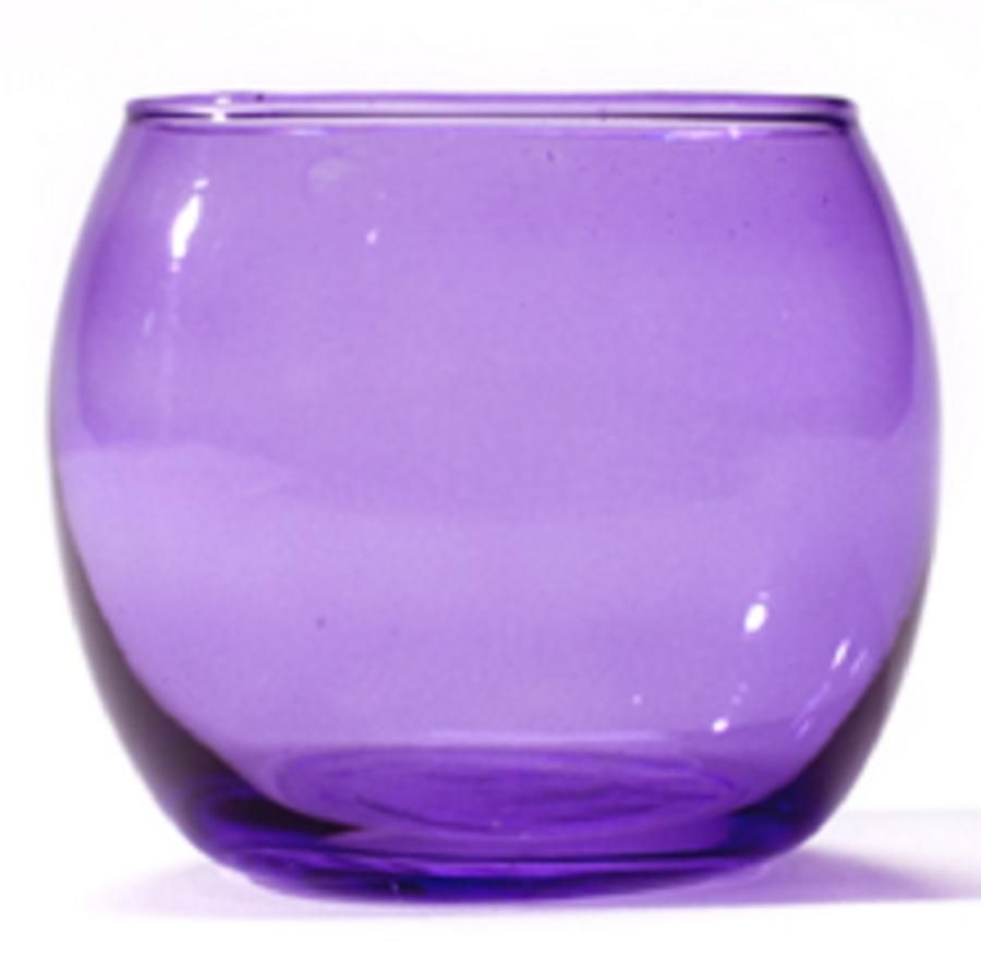 Purple Gles Lilac Gl Tealight Holders The Candle Selection