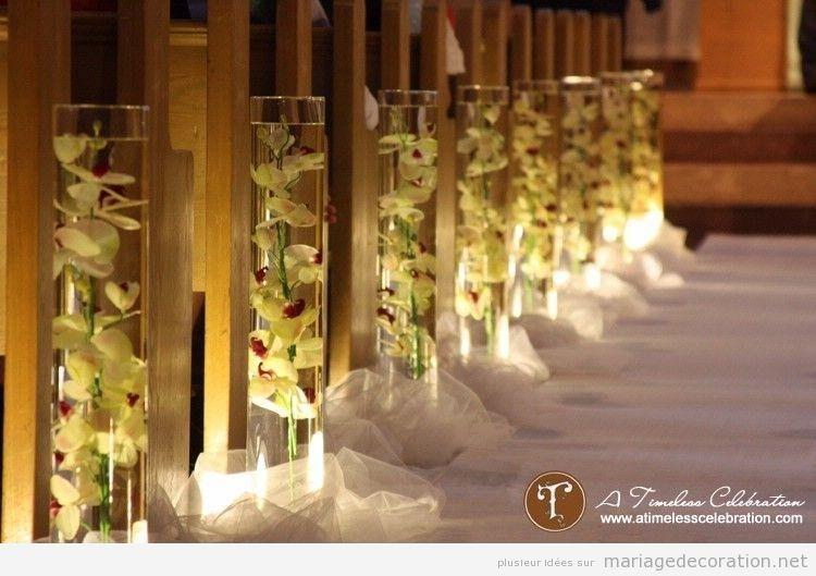 Idées pour décorer les bancs d\u0027une église pendant un mariage