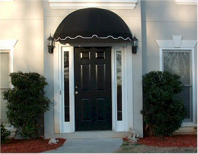 5 Dome Canvas Awning Front Door