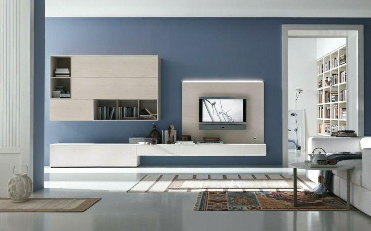 Color azul gris en las paredes