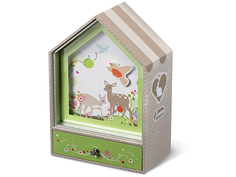 Janod - Musical Jewellery Box, Coco Bear - Kids Wooden Toy Shop Online Australia