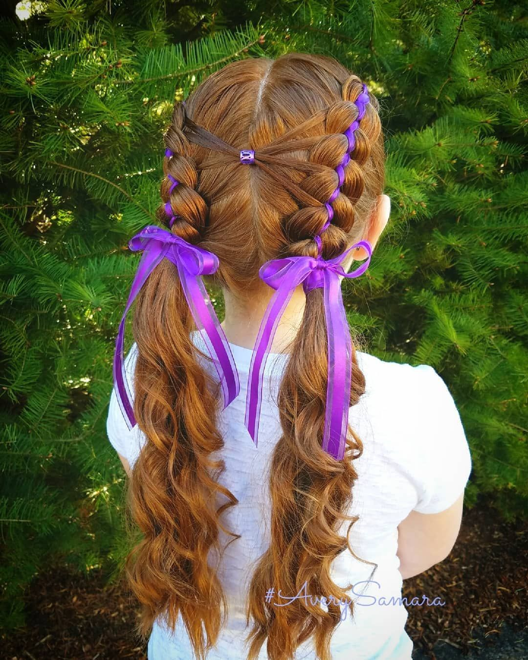Ribbon Braids Five Strand Braid Five Strand Ribbon Braids Braid Combos Cute Girl Hairstyles Easy Braids Cool Braid Hairstyles Hair Styles Kids Hairstyles