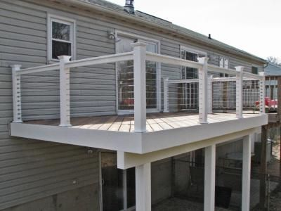 Atlantis Rail Systems Stainless Steel Cable Deck Railing And Fiberon Decking Ipe Composite Flooring