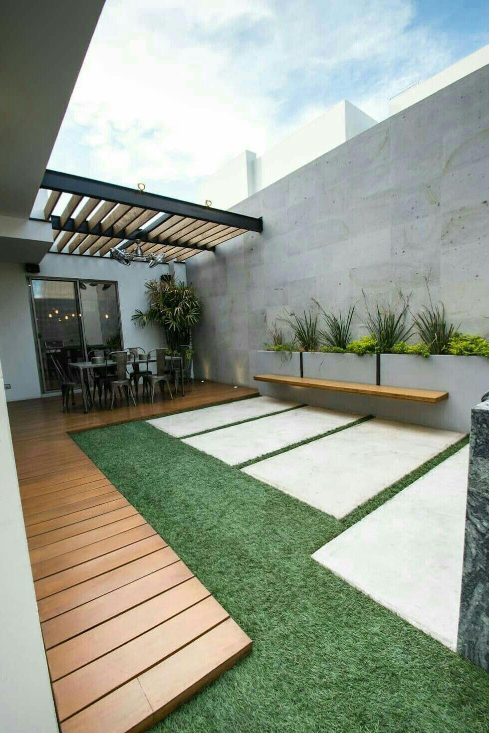 Duplex Courtyard Patios Traseros Dise 241 O De Patio