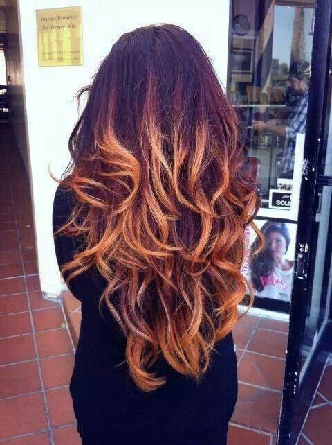 Ombre #hair #red #blonde