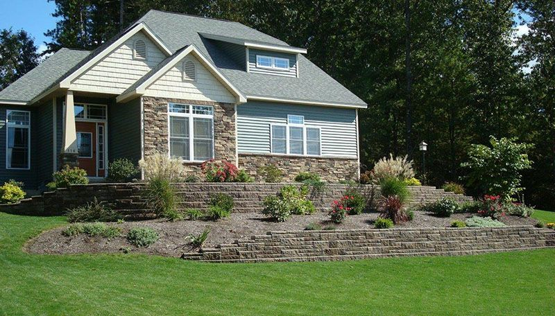 Step Down Plantings Front Yards Terrace Sloping Yard Sloped Yard Yard Outdoor Living