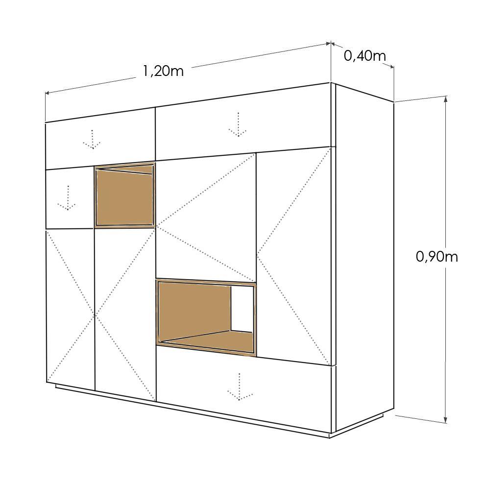 Aparador daniela un aparador elegante y minimalista muebles for Muebles encantadores del pais elegante