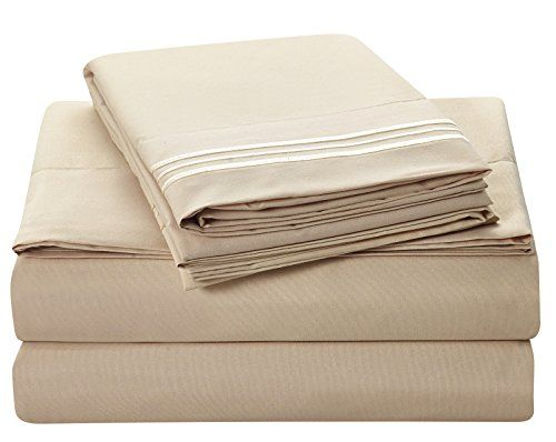 Bluedotsky Bedding Highest Quality 100 Durable Polyester Bed Set With Deep Pockets  Fitted Sheet Premium Hotel Collection Wrinkle Stain And Fade U2026