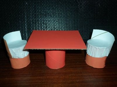 doll furniture recycled materials. dollu0027s table and chairs image 7 doll furniture recycled materials