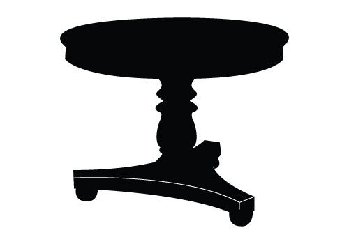 Table Vector Graphics Free Download Table Silhouette Vector