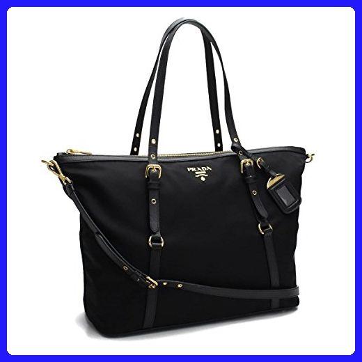 5e73b7f658c46e Prada Women's Tessuto Saffian Shopping Tote 1BG253 Nero (Black) - Totes (* Amazon Partner-Link)
