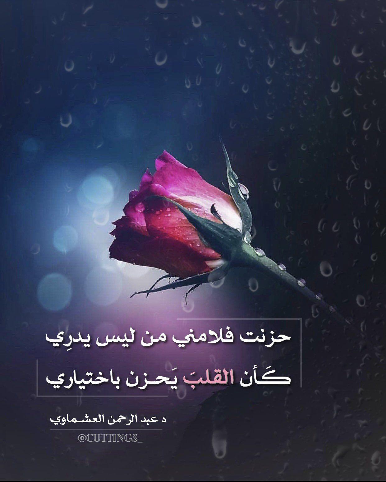 حزنت فلامني من ليس يدر ي ك أن القلب ي حزن باختياري Love Words New Words Words