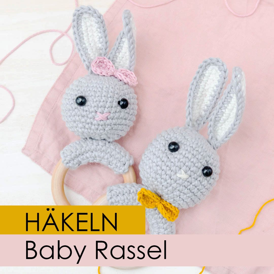 Baby Geschenk: Rassel häkeln #haken