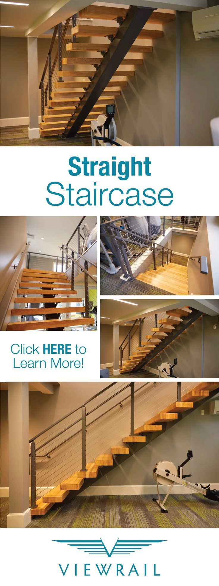Best Straight Floating Staircase Modern Stairs Floating 400 x 300