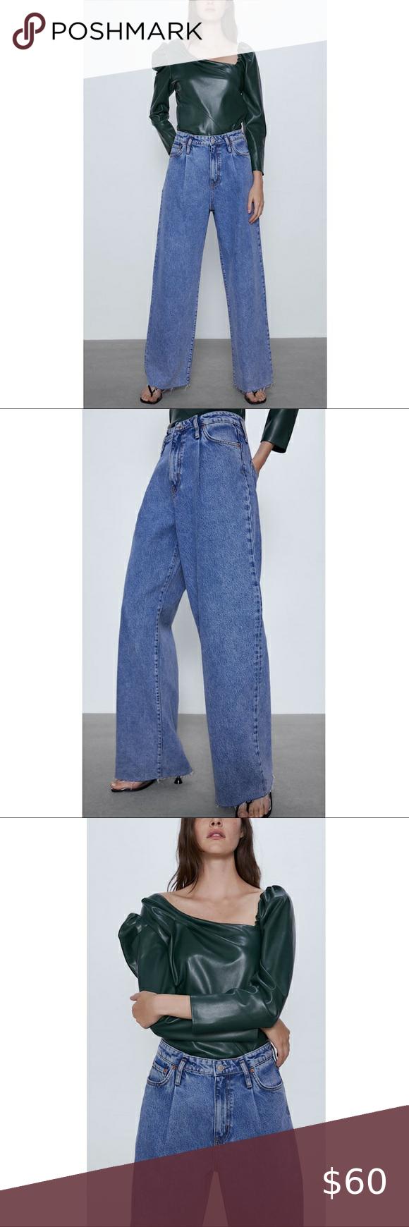 Zw Premium Caia Wide Leg Jeans Wide Leg Jeans Blue High Waisted Jeans High Waist Jeans