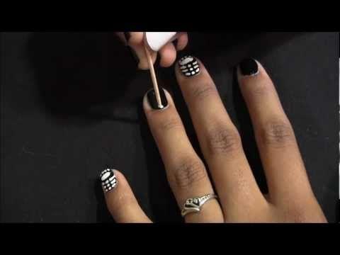 DIY Skeleton Nails! | Nails, Nail tutorials, Diy