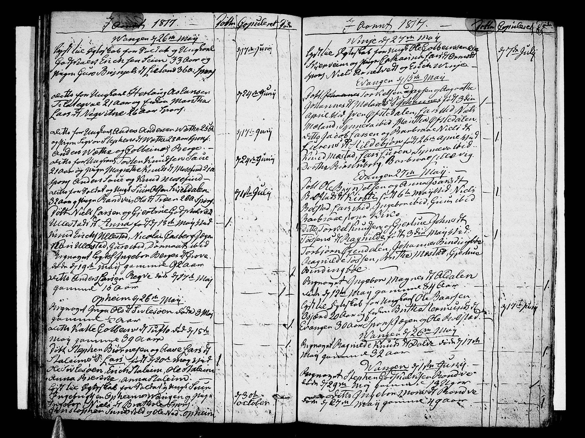 1817 Death record for Ingeborg Magnesdtr (fifth great grandma on the Aldahl side).