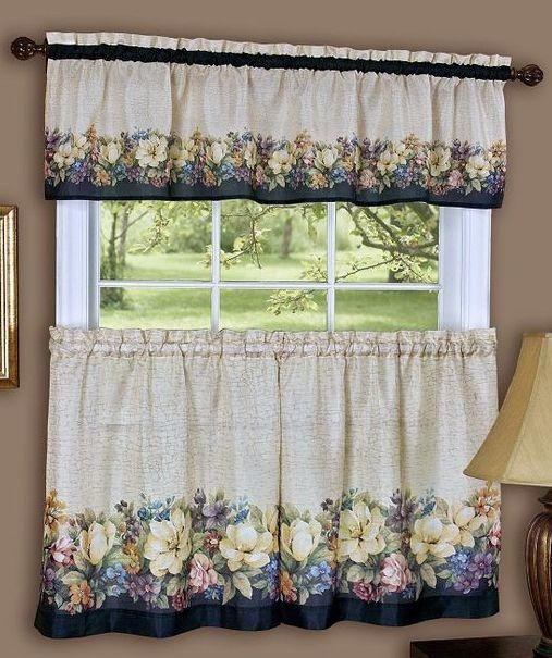 Antique Floral Curtains Has Delicate Floral Bouquets That Beautify
