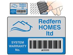 Scanmark Tamper Evident Barcode Label Logo Full Design 32mm X 50mm Barcode Labels Leave Pattern Custom Design