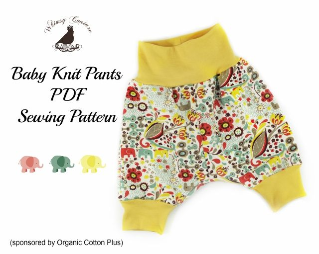 Enjoy this Free PDF Sewing Pattern For Baby Knit Pants from Whimsy ...