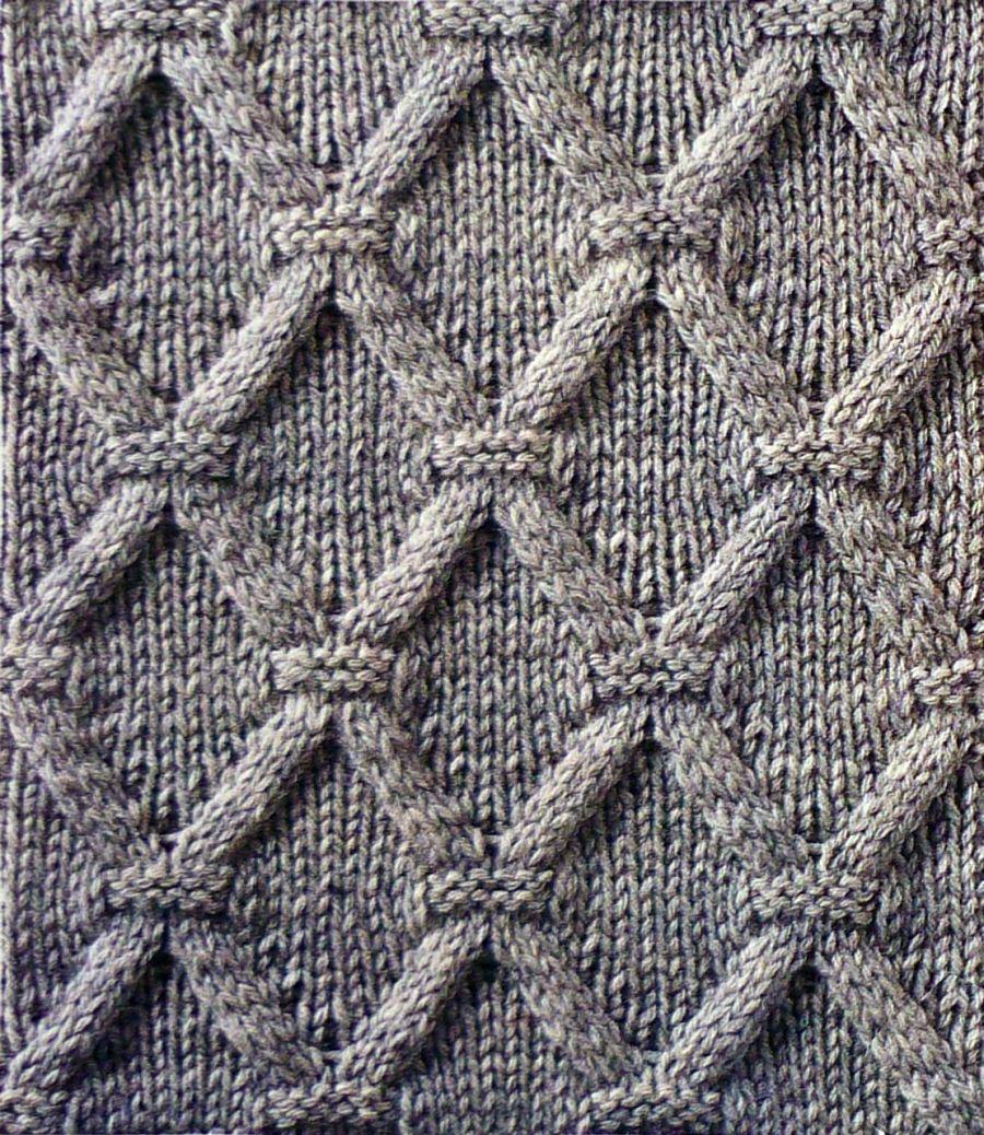 Вязания спицами узоры ромбы