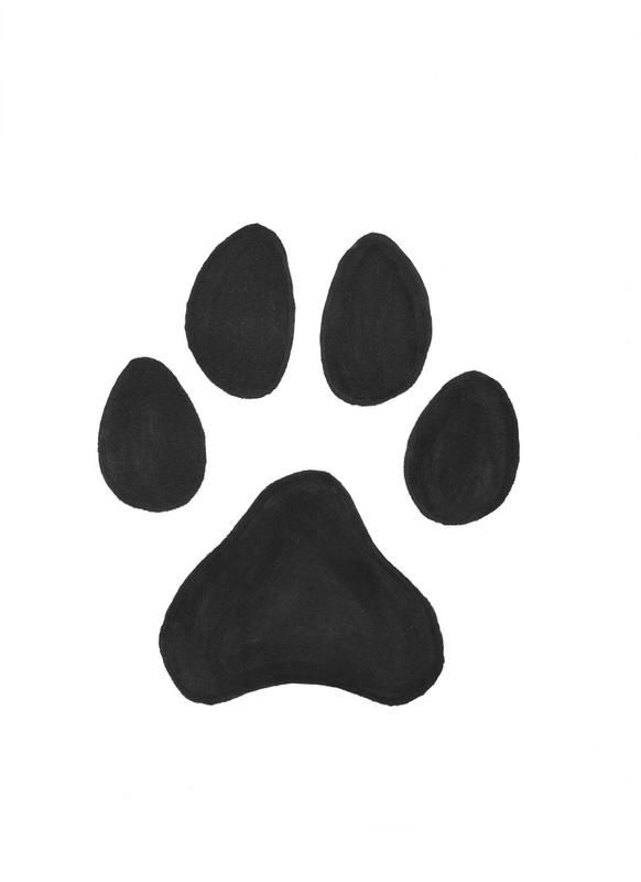 How do you draw a dog's paw?