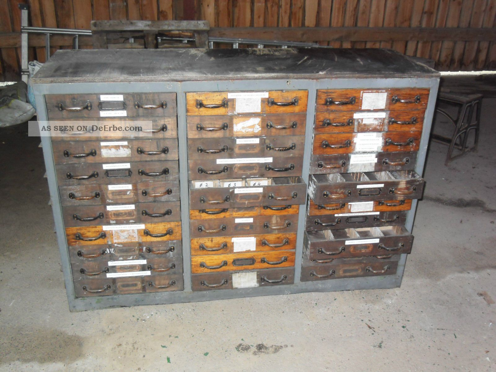 Loft Industrie Design Schubladenschrank Industrial Design ...