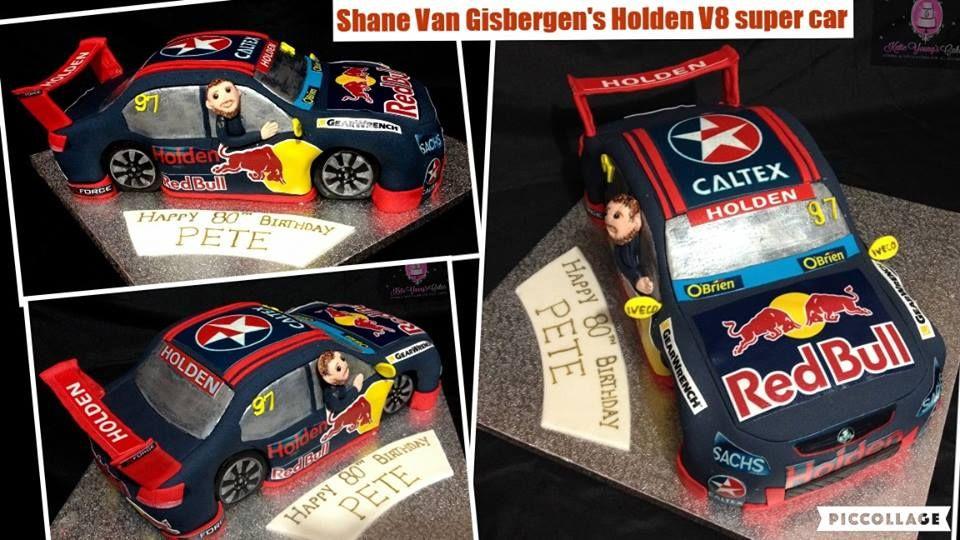 Shane Van Gisbergen V8 supercar cake Super cars, Kuchen
