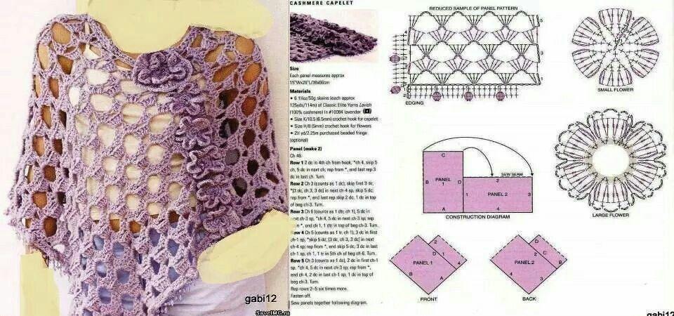 Chal crochet pattern simple | Crochet Women _ كروشيه المرأة | Pinterest