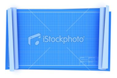 3d Render Of Some Blank Unrolled Blueprints For Overlaying Your Own Blueprints Stock Images Free Blank Photo
