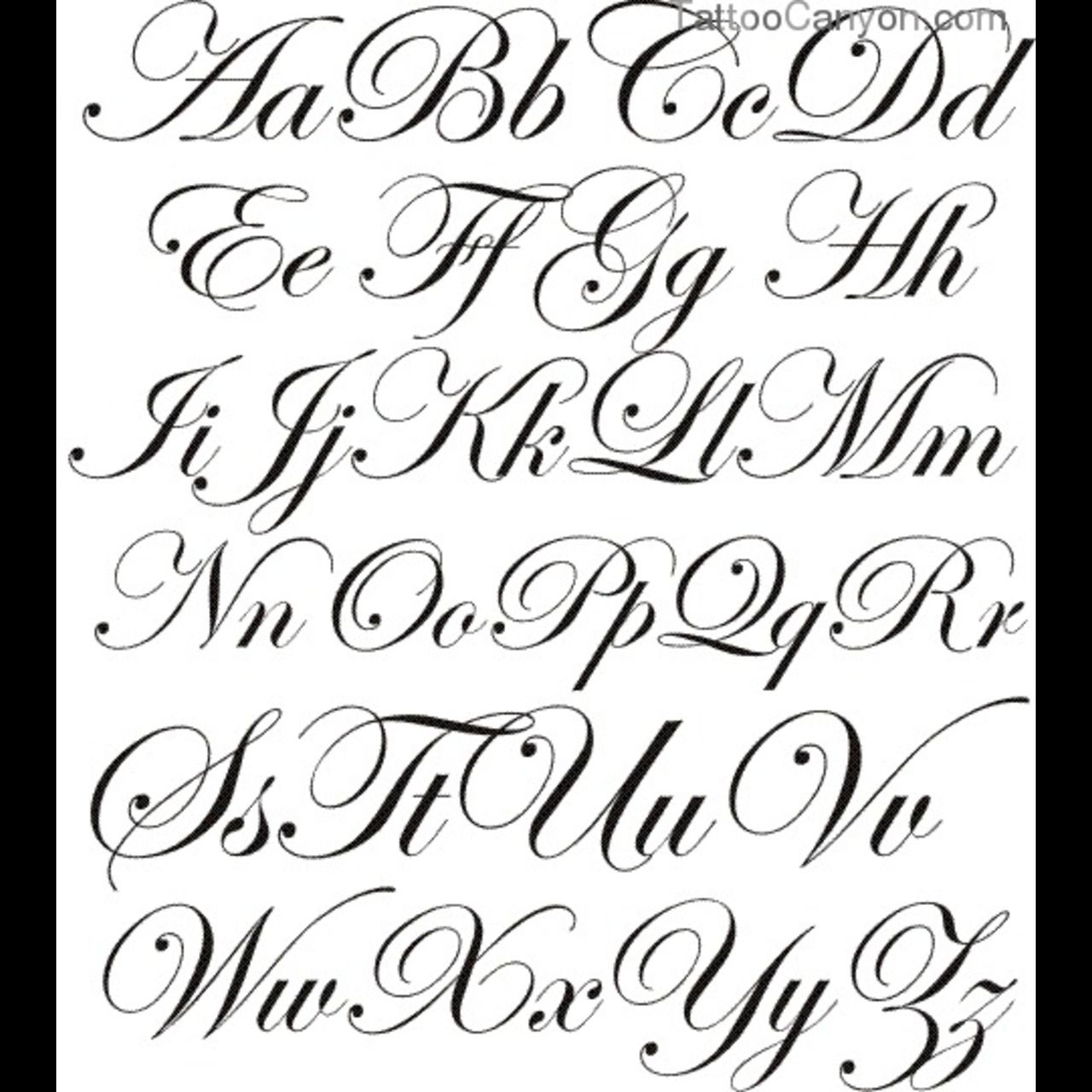 Calligraphy tattoo fonts more