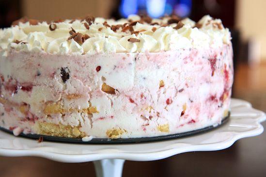 Raspberry & Chocolate Frozen Greek Yogurt Icebox Cake
