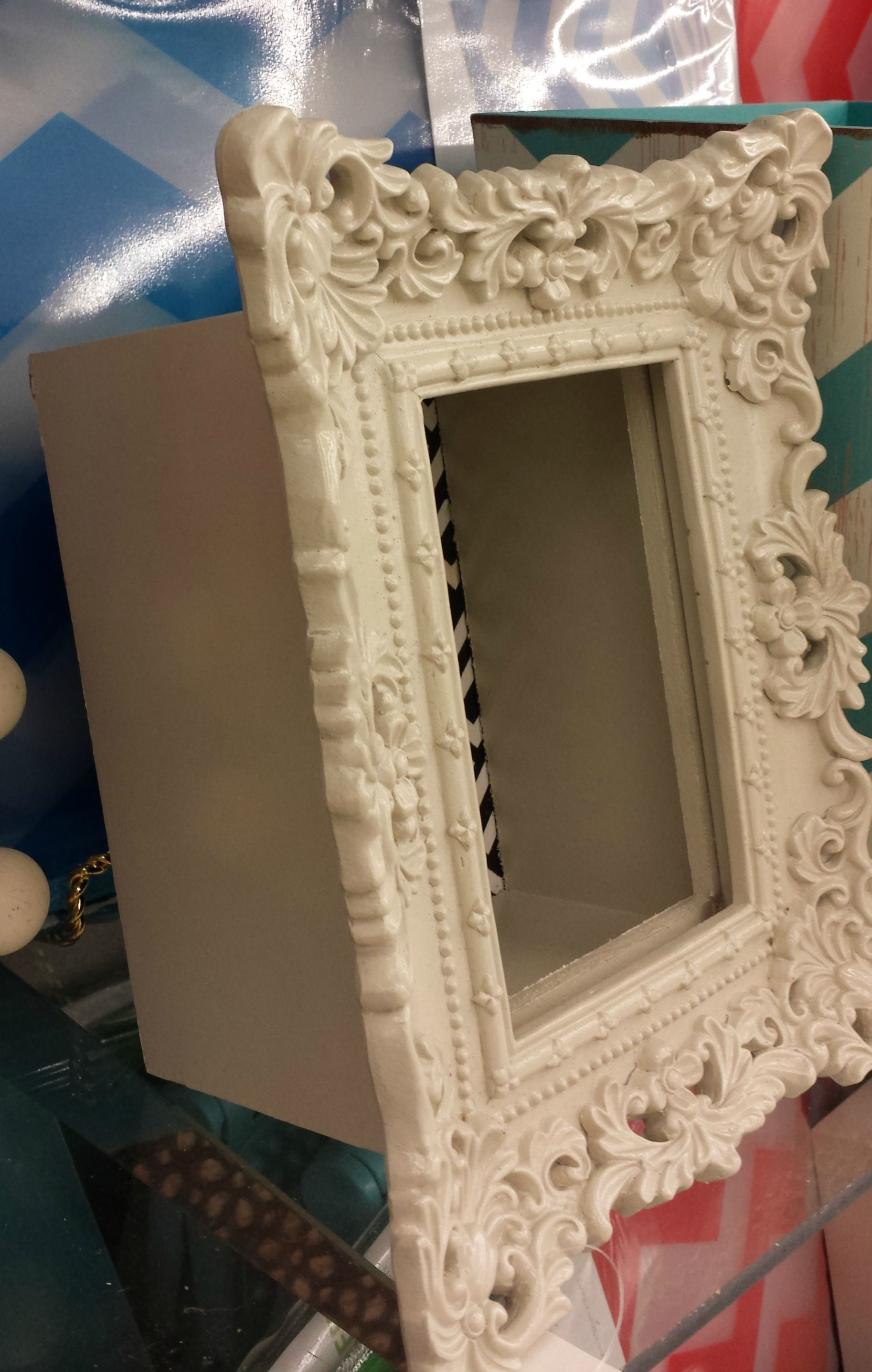 Attach An Ornate Frame To A Wooden Box To Make