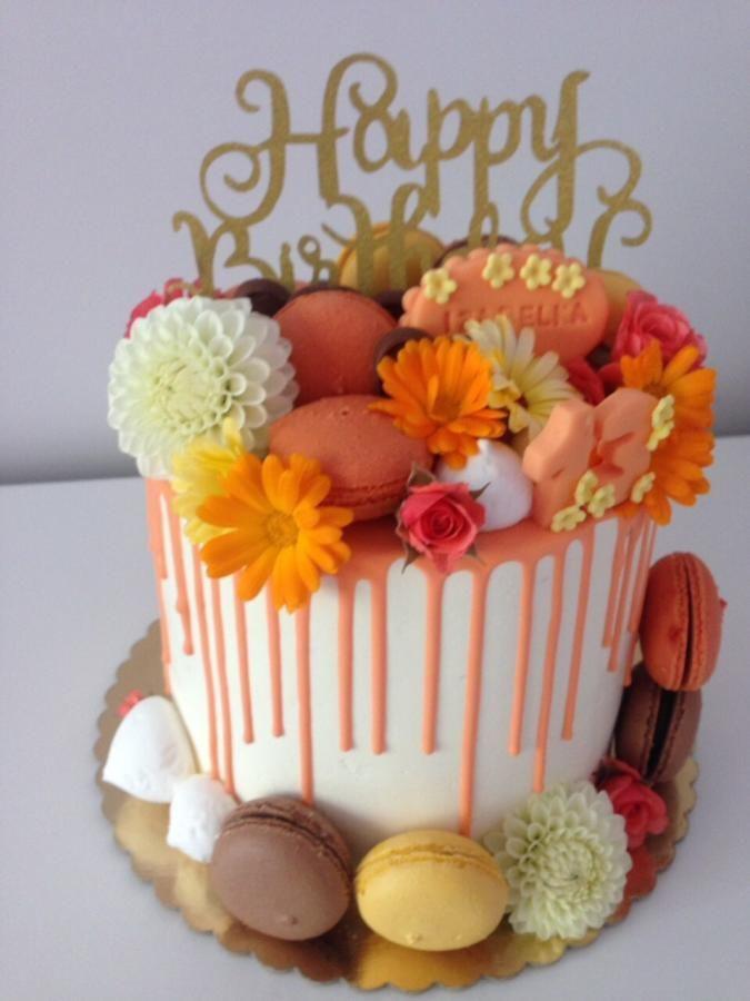 Fantastic Orange Yellow Cake By Petra Kostylkova Orange Cake Funny Birthday Cards Online Hetedamsfinfo
