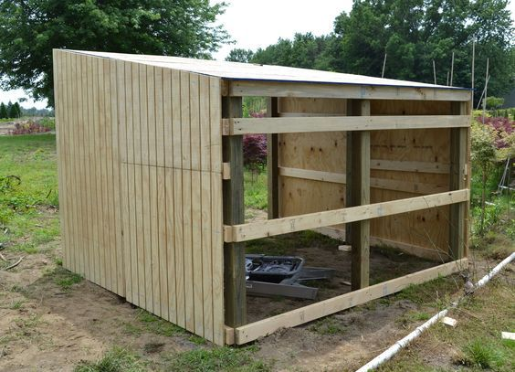 Building Shelter For Miniature Donkeys Or Goats Chicken