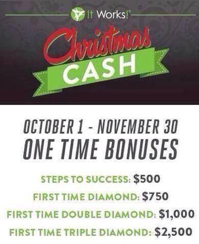 Bonus time! Cash for Christmas!
