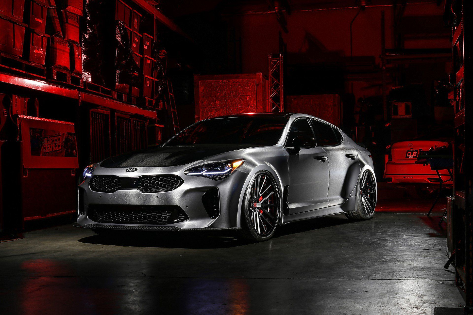 Kia Dubs Out At Sema With K900 And Stinger Gt Concepts Carscoops Kia Stinger Kia Kia Motors